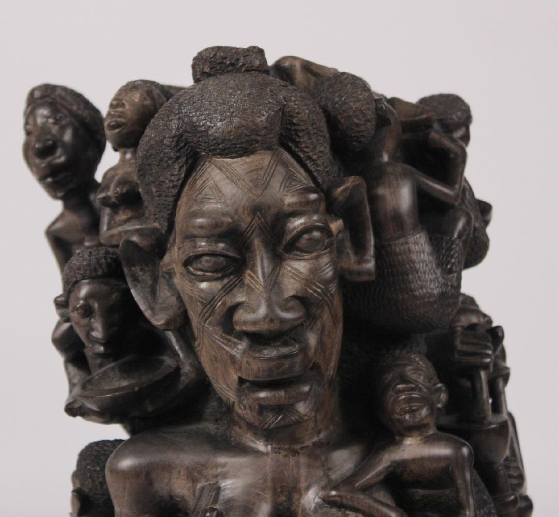 Carved African Figural Sculpture - 2