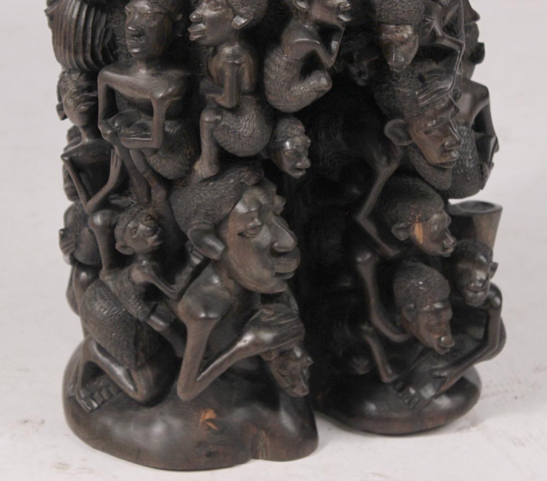 Carved African Figural Sculpture - 4