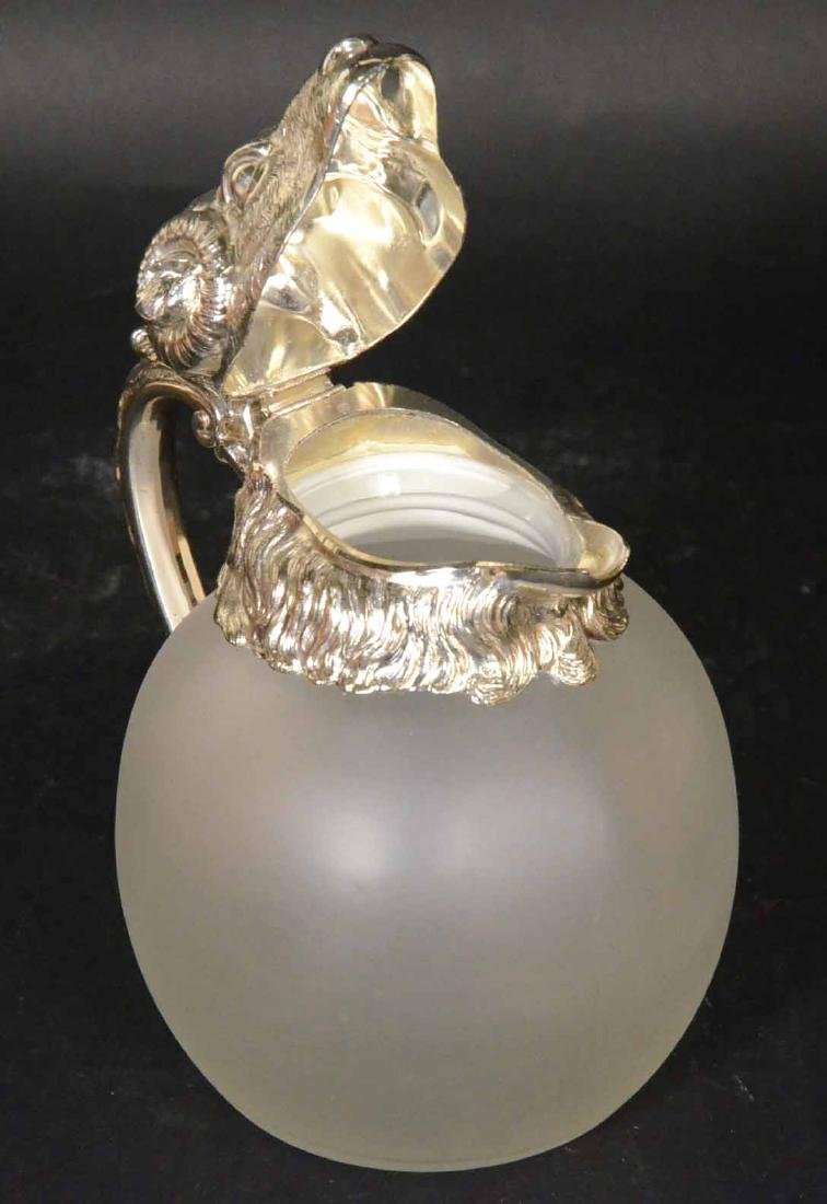 Carole Stupell Frosted Glass Ram Head Pitcher - 8