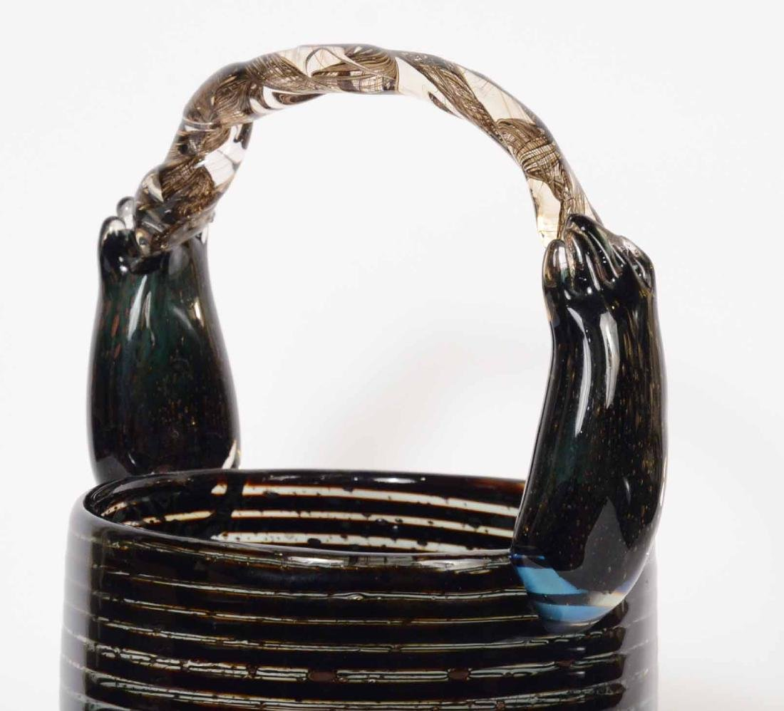Art Glass Basket - 4