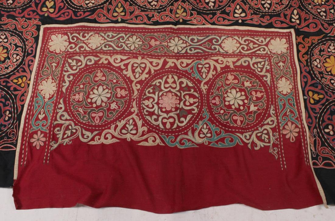 Crewel Embroidery Table Cover - 2