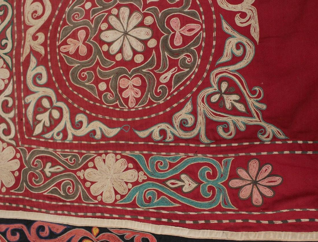Crewel Embroidery Table Cover - 3