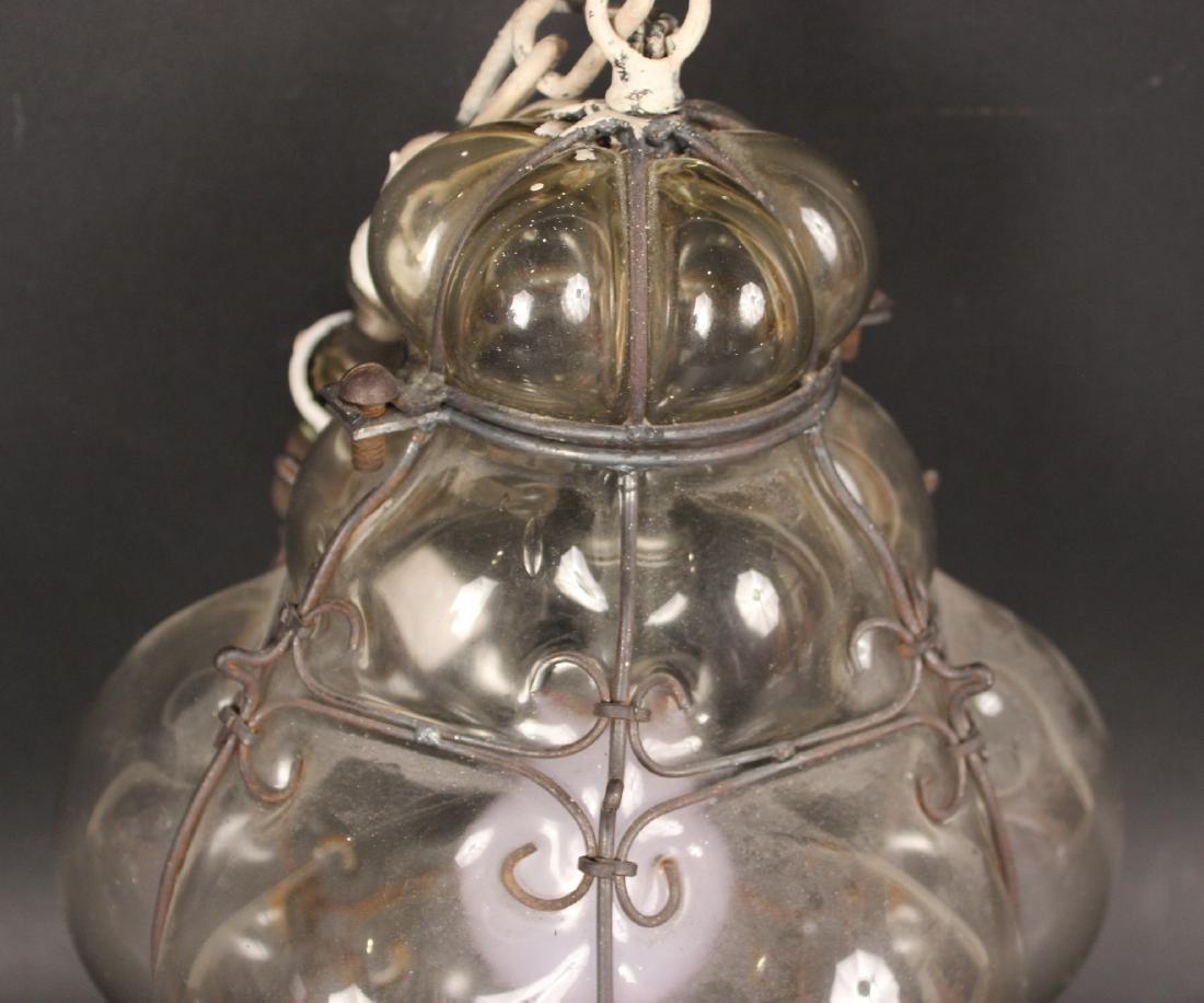 Glass Bulbous Form Ceiling Fixture - 2