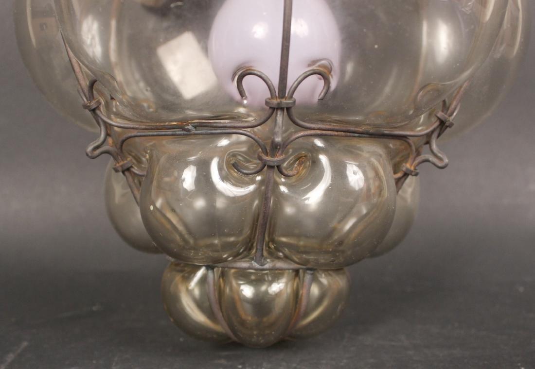 Glass Bulbous Form Ceiling Fixture - 3