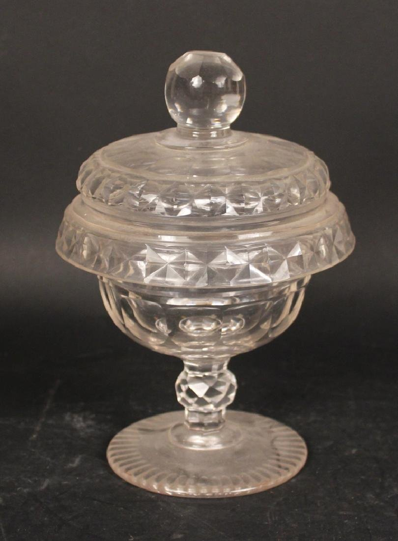 Pair of Sterling Silver Handled Glass Dishes - 4