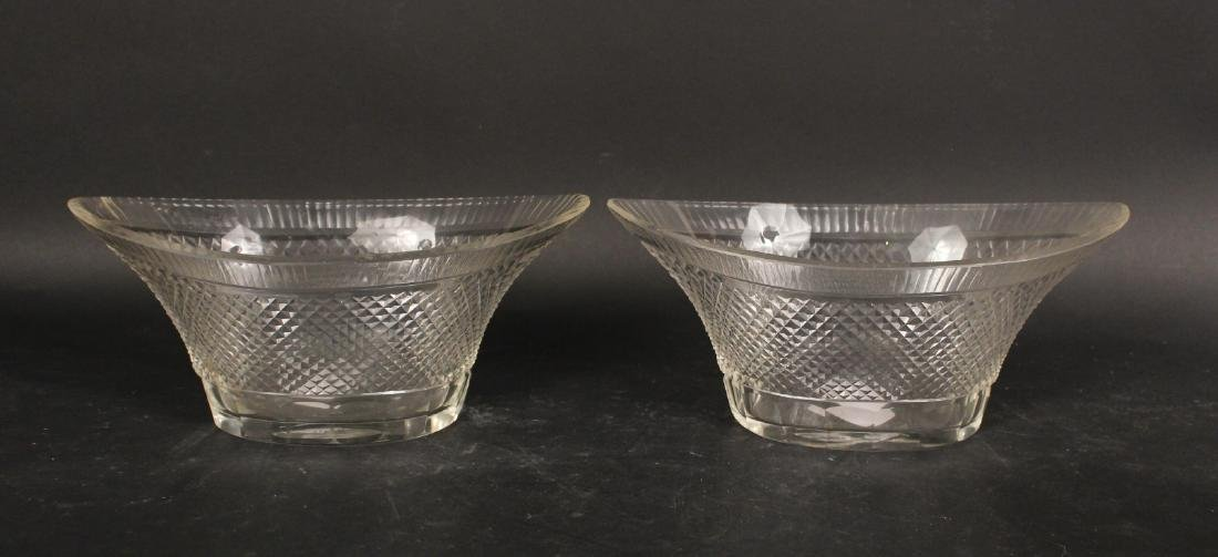 Pair of Sterling Silver Handled Glass Dishes - 5