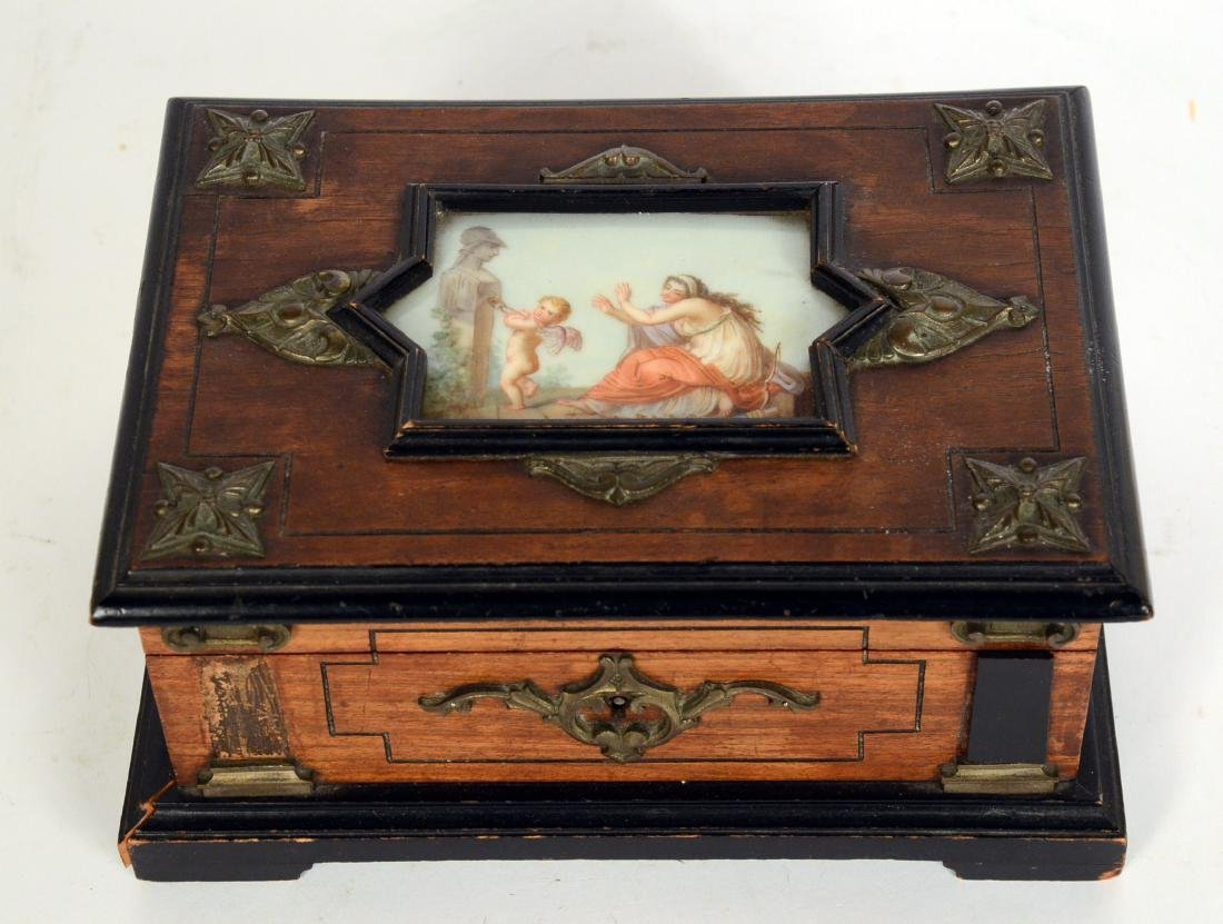 Neoclassical Style Wood Box - 6