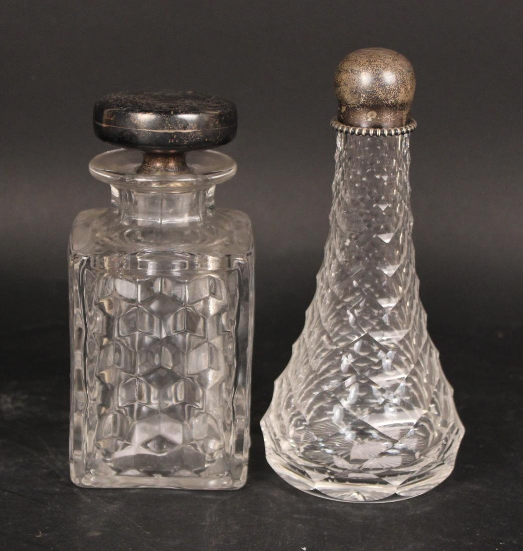 Nine Colorless Glass Decanters - 3
