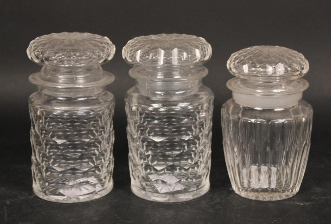 Nine Colorless Glass Decanters - 4