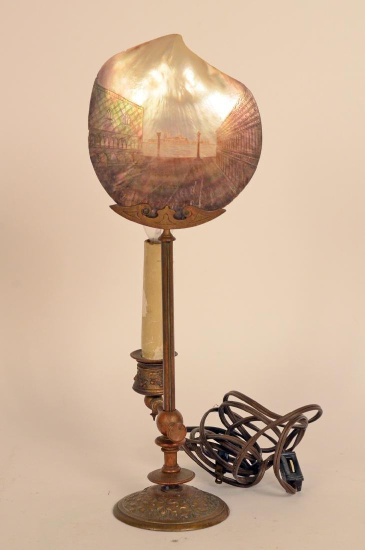 Gilt Metal Lamp - 4