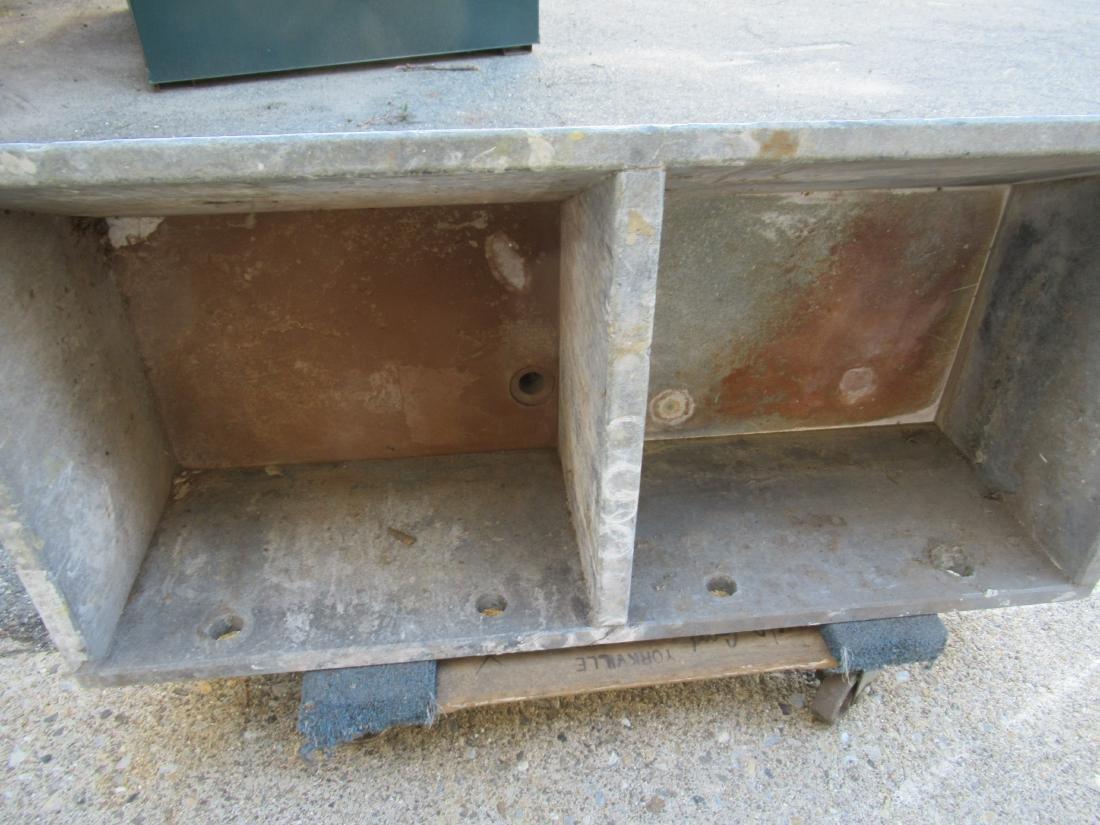 Vintage Soapstone Double Utility Sink - 4
