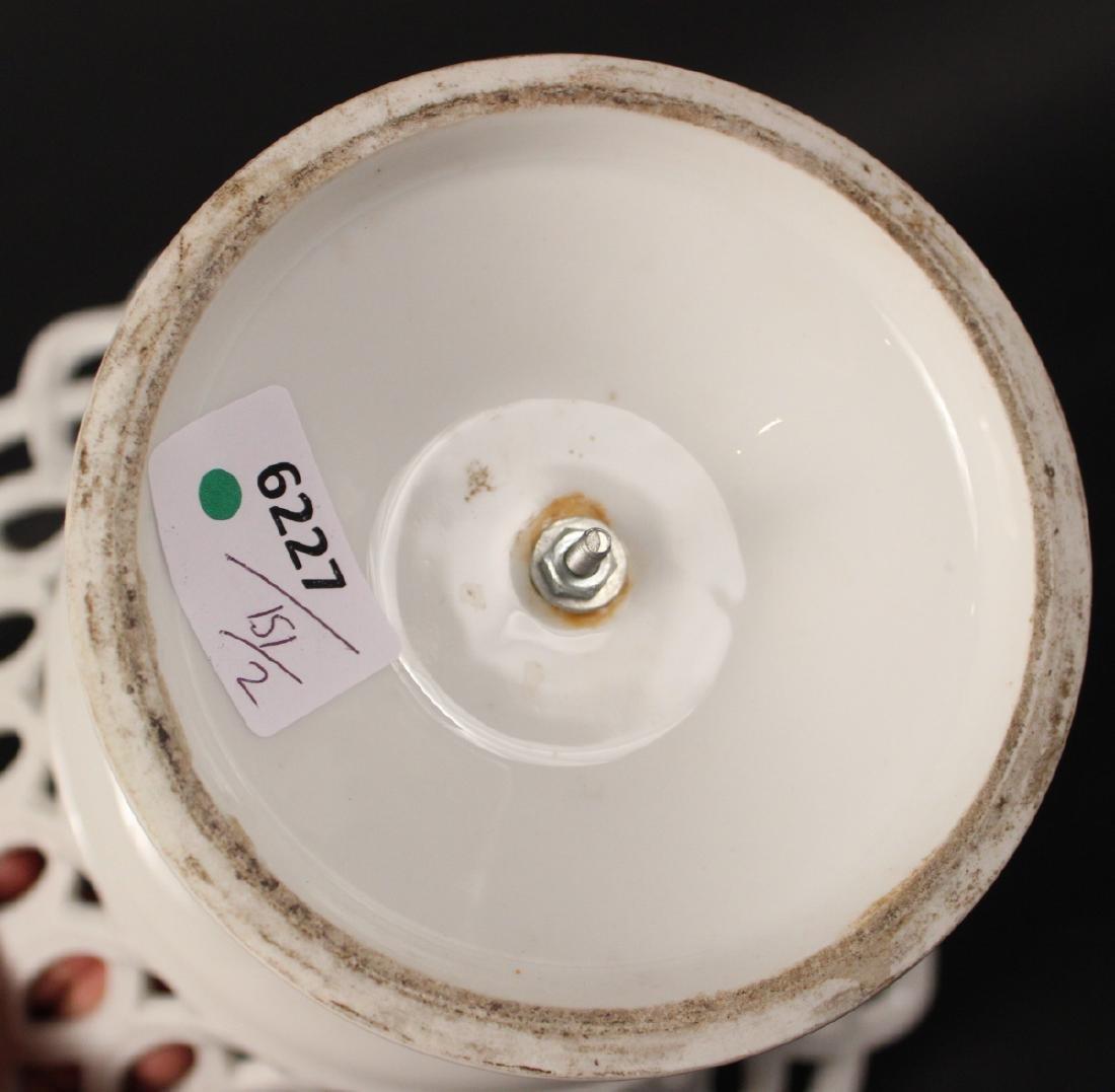 Creamware Chestnut Basket and Underplate - 6