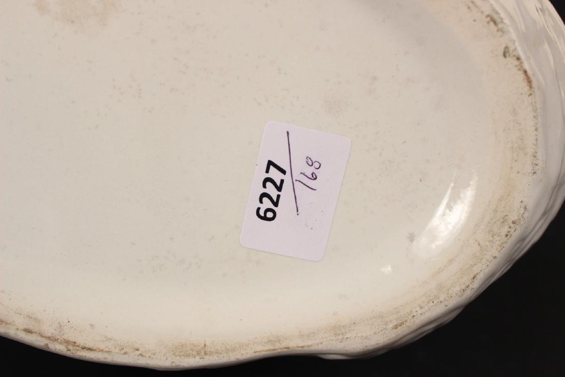 Creamware Chestnut Basket and Underplate - 7