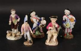 Five German Porcelain Figures