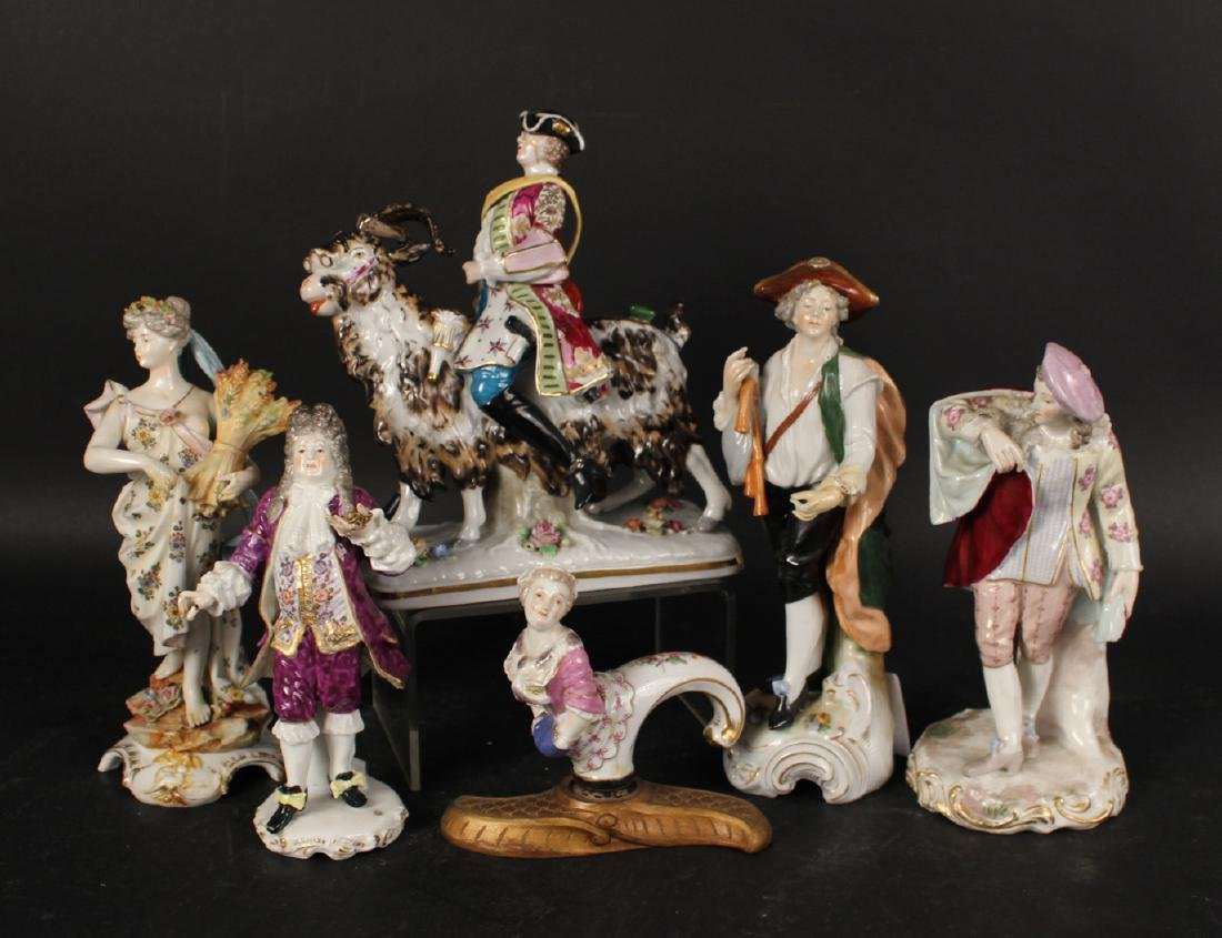 Six Porcelain Figurines