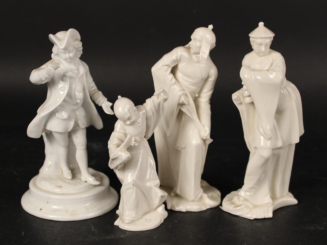 Four Blanc de Chine Porcelain Figures