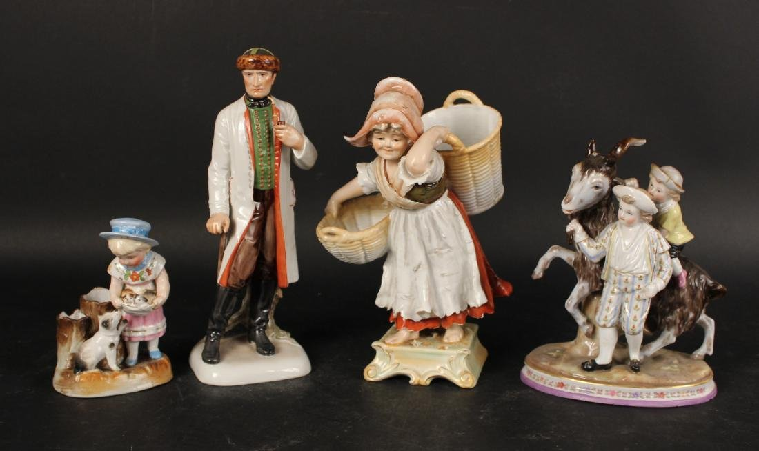 Four Porcelain Figures