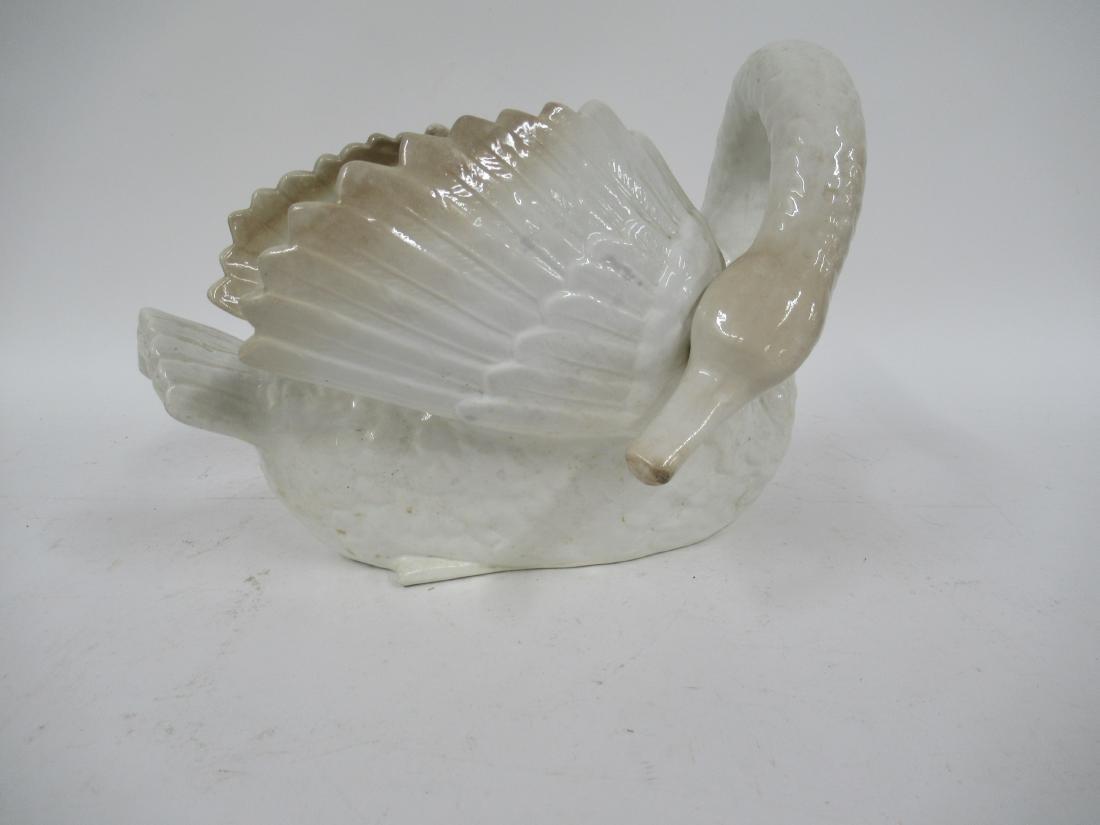 Ceramic Faiencerie Swan Planter