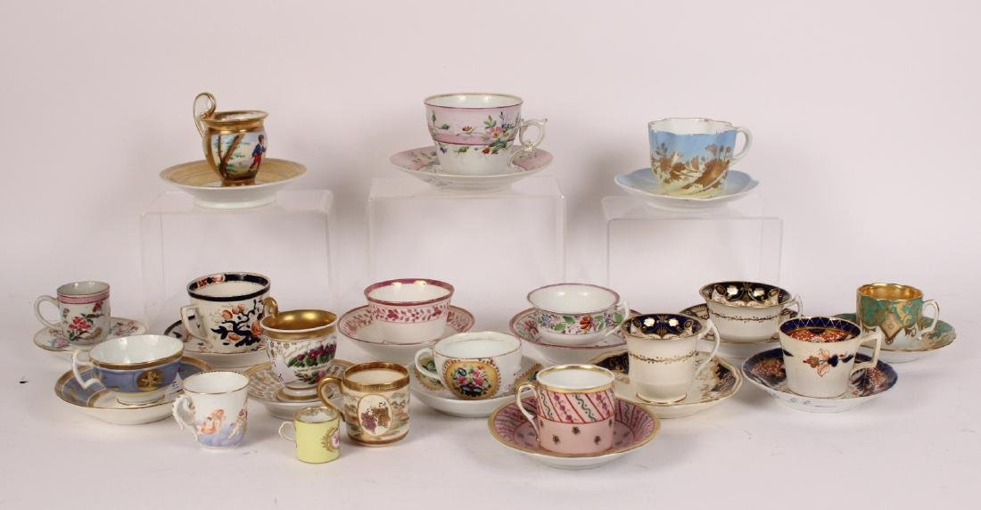 Fifteen Assorted Cups and Saucers