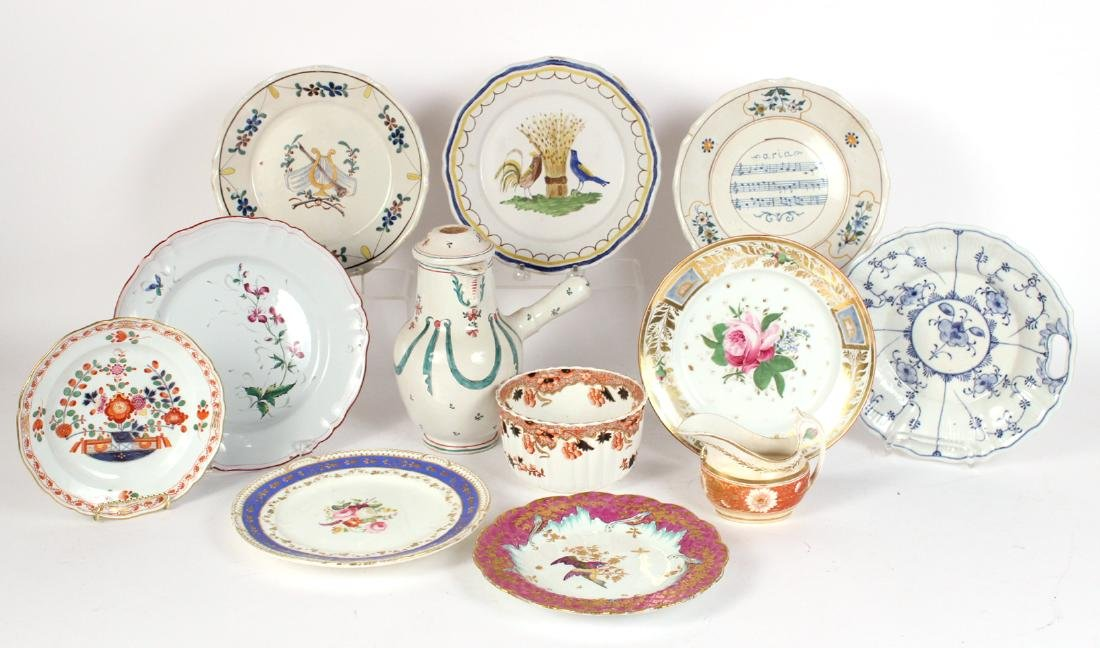 Group of Continental Porcelain Plates