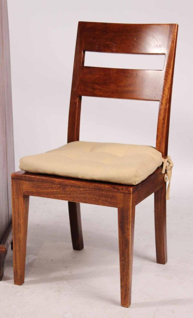 Pair Arts &Crafts Style Mahogany Slat Back Chairs - 2