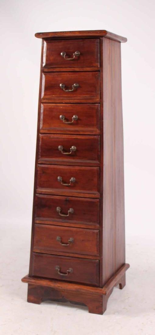 Pair Arts &Crafts Style Mahogany Slat Back Chairs - 5