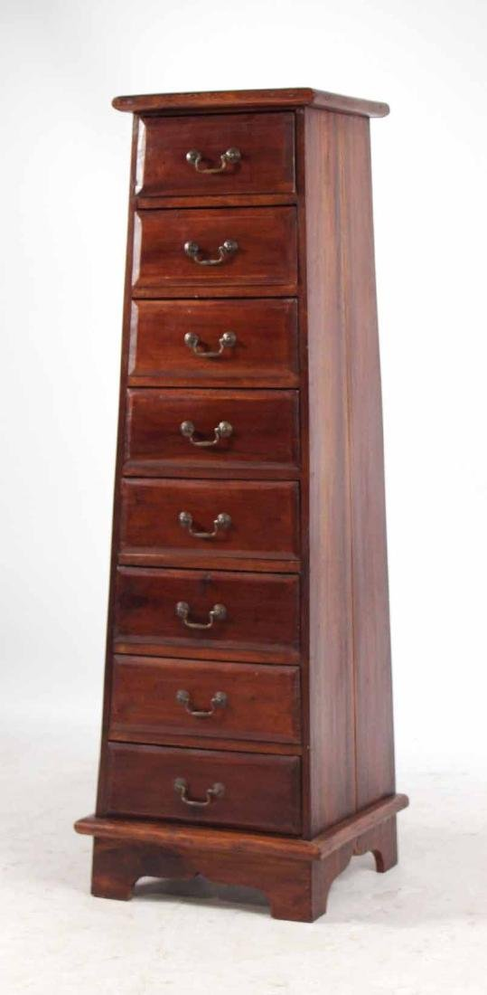 Pair Arts &Crafts Style Mahogany Slat Back Chairs - 6