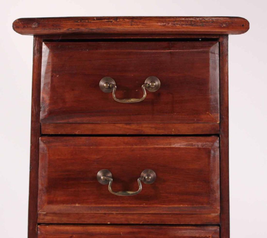 Pair Arts &Crafts Style Mahogany Slat Back Chairs - 9