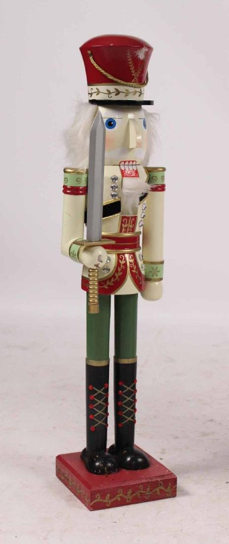 Pair Paint Decorated Nutcracker Soldiers - 2