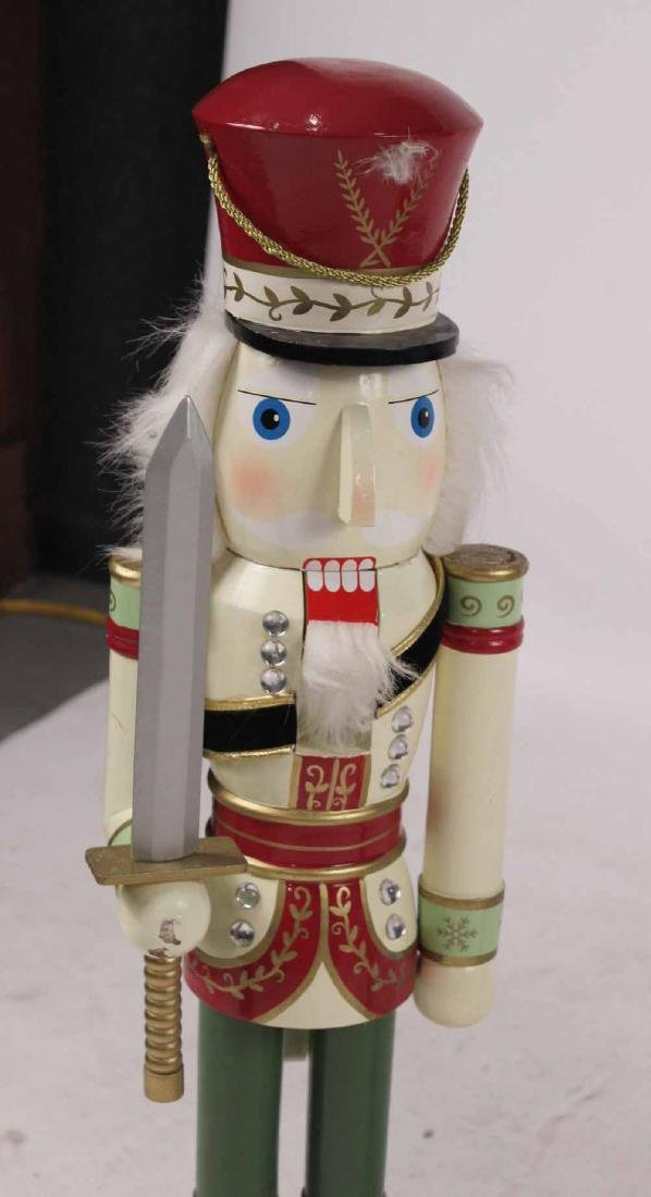 Pair Paint Decorated Nutcracker Soldiers - 5