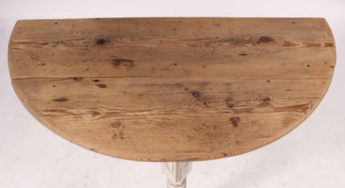 White Painted Pine & Cedar Demi-Lune Pier Table - 5