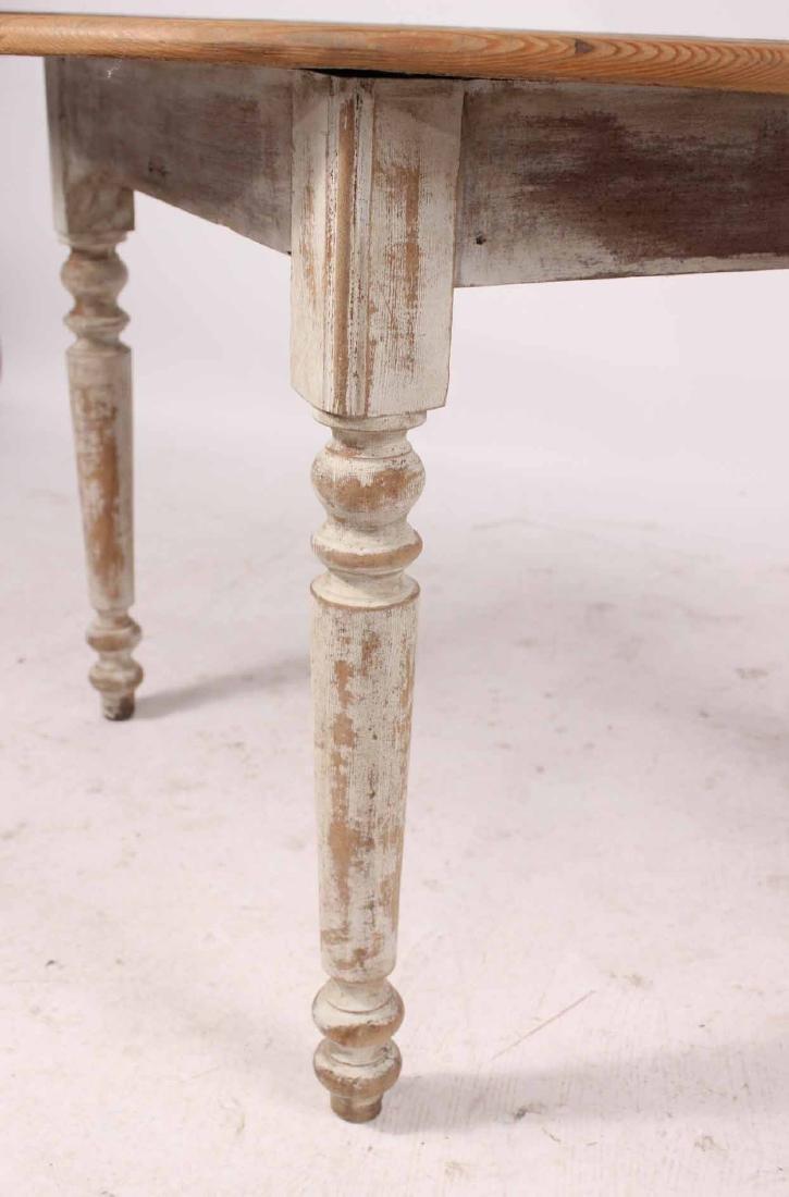 White Painted Pine & Cedar Demi-Lune Pier Table - 6