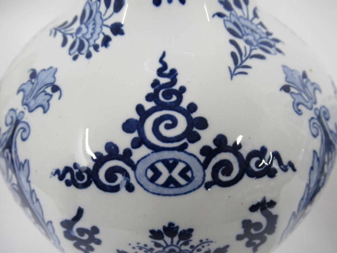 Two Gien Blue and White Porcelain Lamp Bases - 4