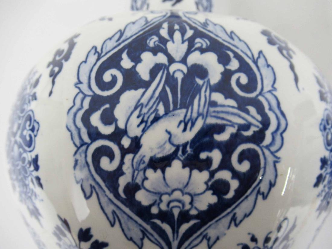 Two Gien Blue and White Porcelain Lamp Bases - 5