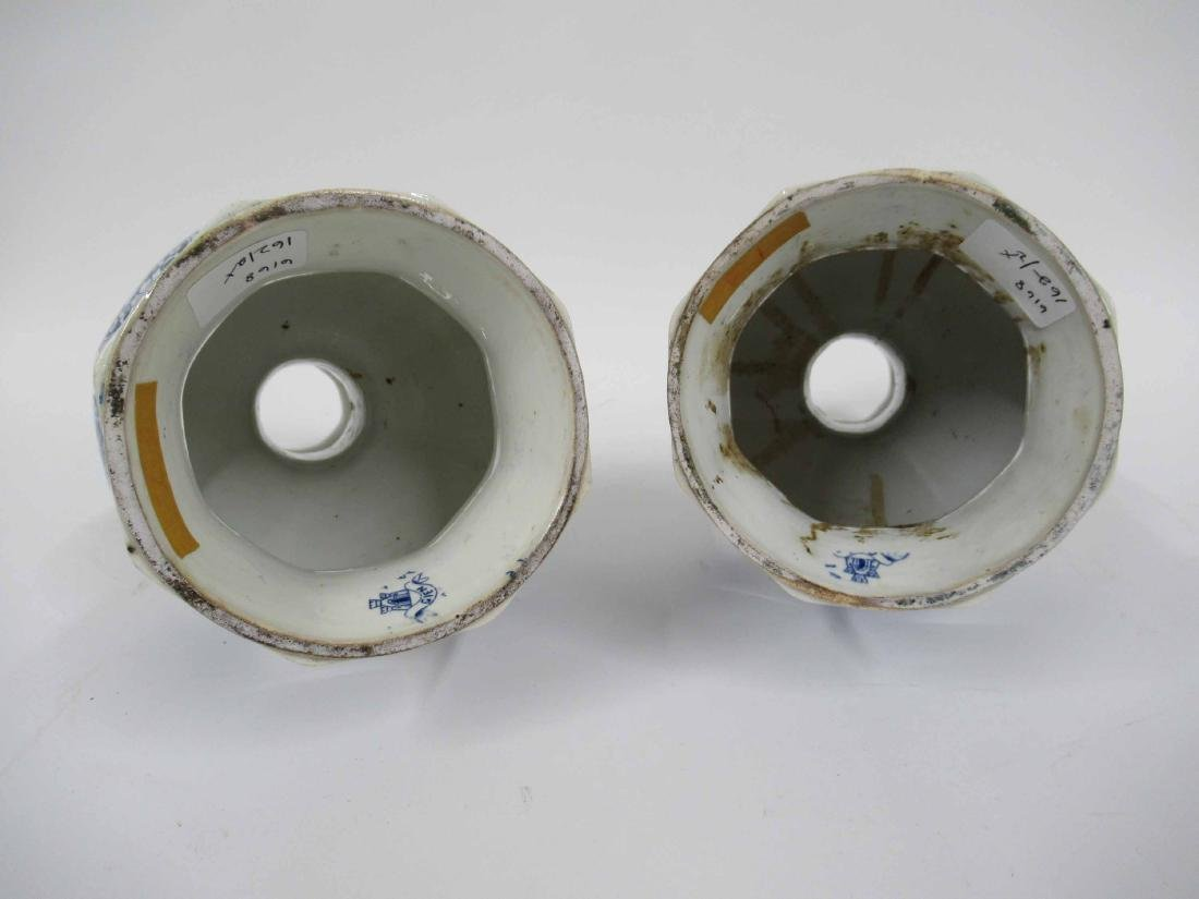 Two Gien Blue and White Porcelain Lamp Bases - 6