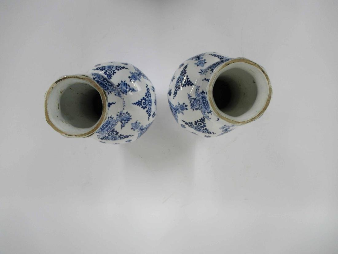 Two Gien Blue and White Porcelain Lamp Bases - 7
