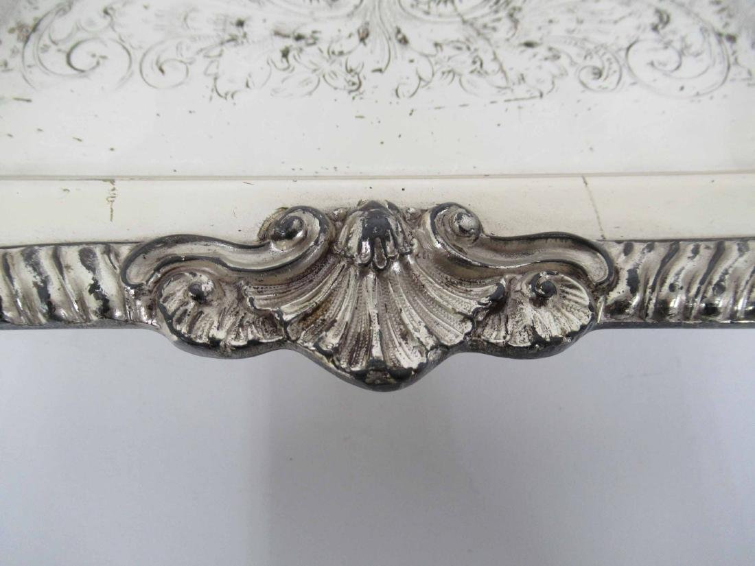 Silver Plate Footed Handled Tray - 3