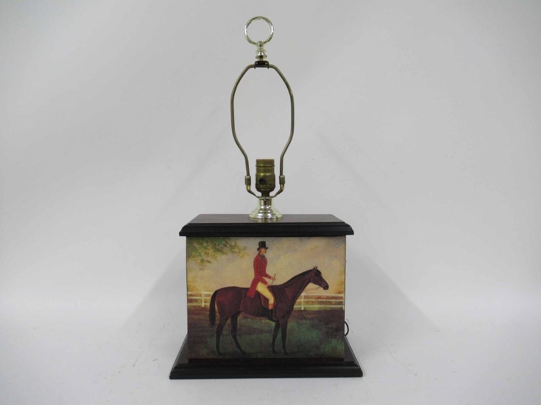 Equestrian Motif Table Lamp