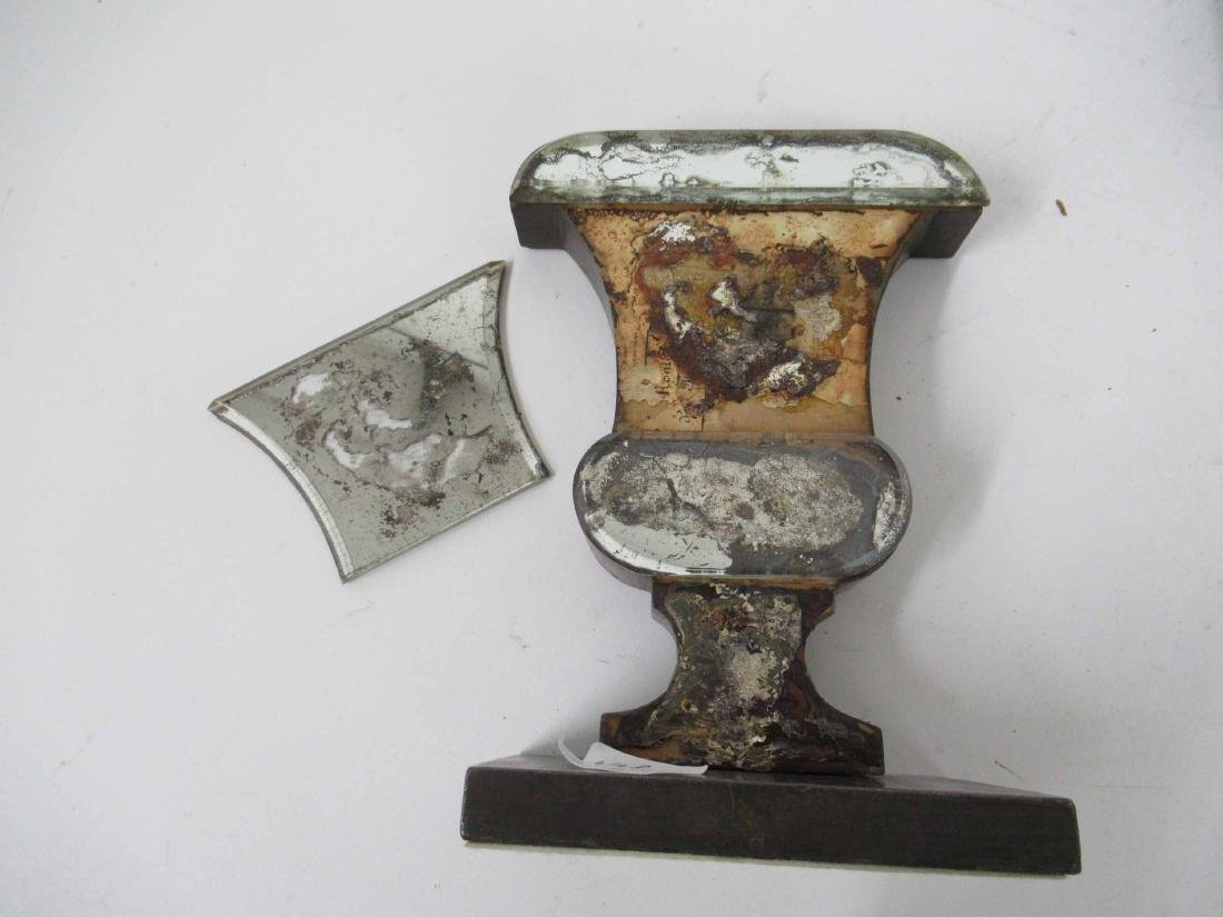 Pair of Mercury Glass Urn Form Bookend Vases - 6