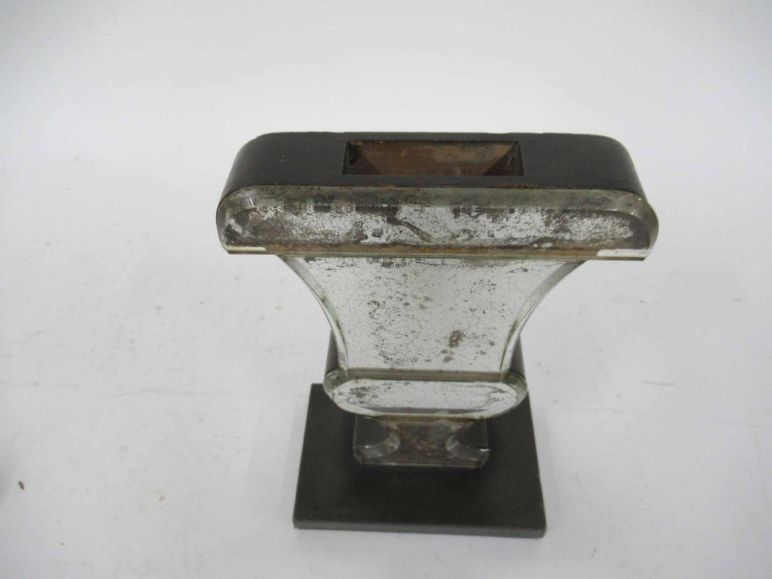 Pair of Mercury Glass Urn Form Bookend Vases - 7