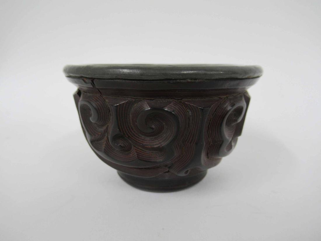 Chinese Guri Lacquer Tea Cup