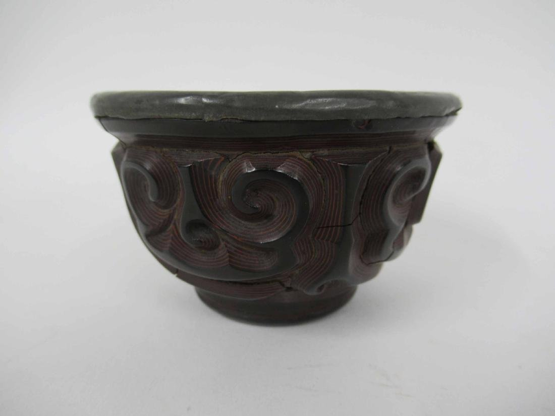 Chinese Guri Lacquer Tea Cup - 3
