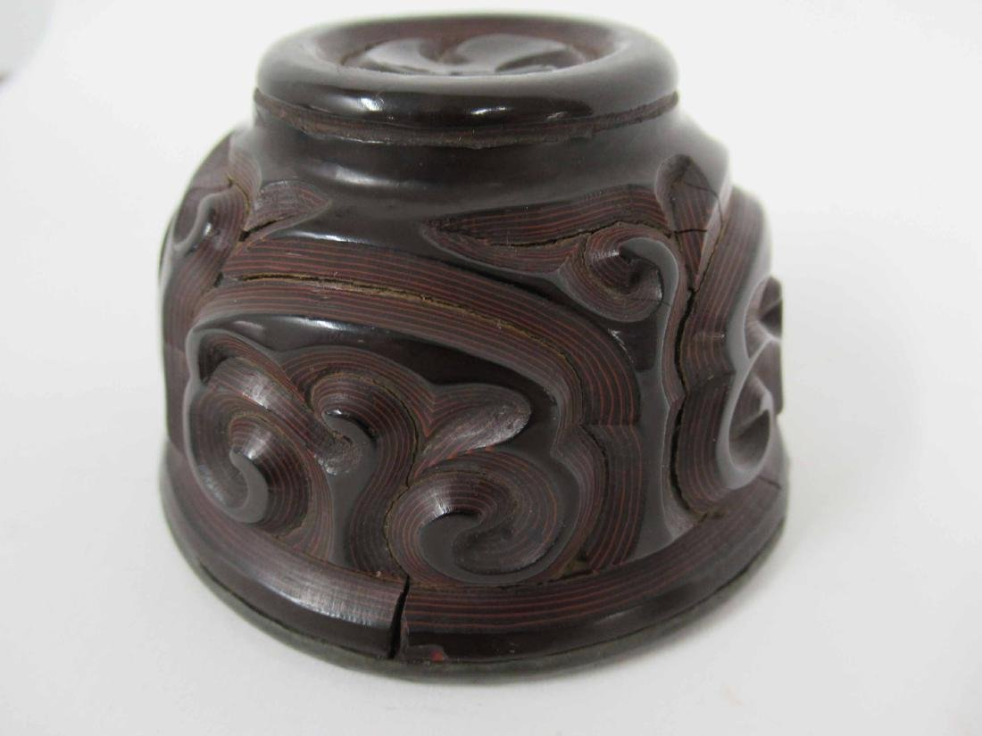 Chinese Guri Lacquer Tea Cup - 5