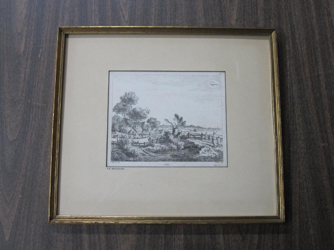 Two Wairotter Engravings - 4