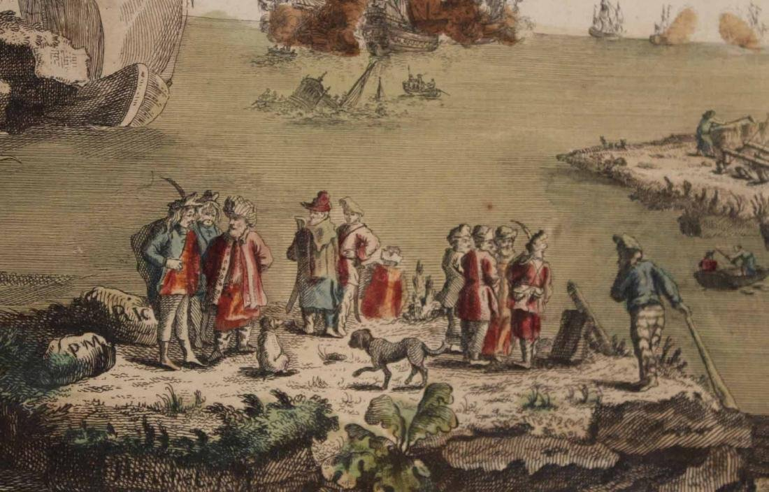 Hand-Colored Engraving, Naval Battle - 4