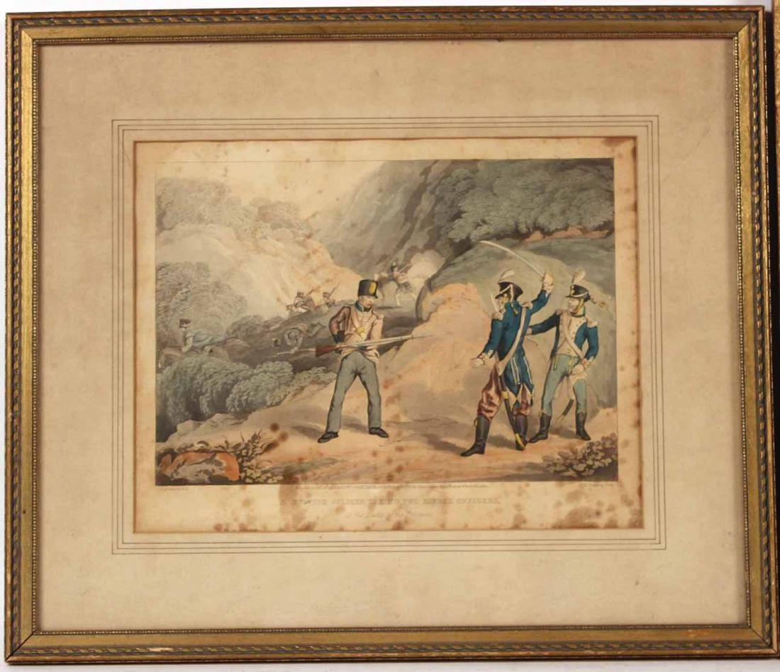Hand-Colored Engraving, Naval Battle - 6