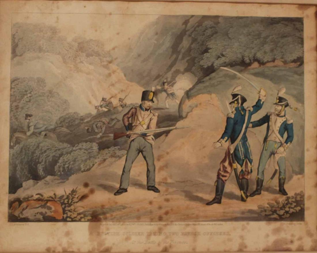 Hand-Colored Engraving, Naval Battle - 7