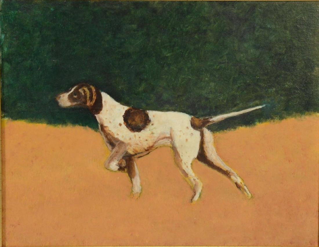 Oil on Canvas, English Pointer - 3