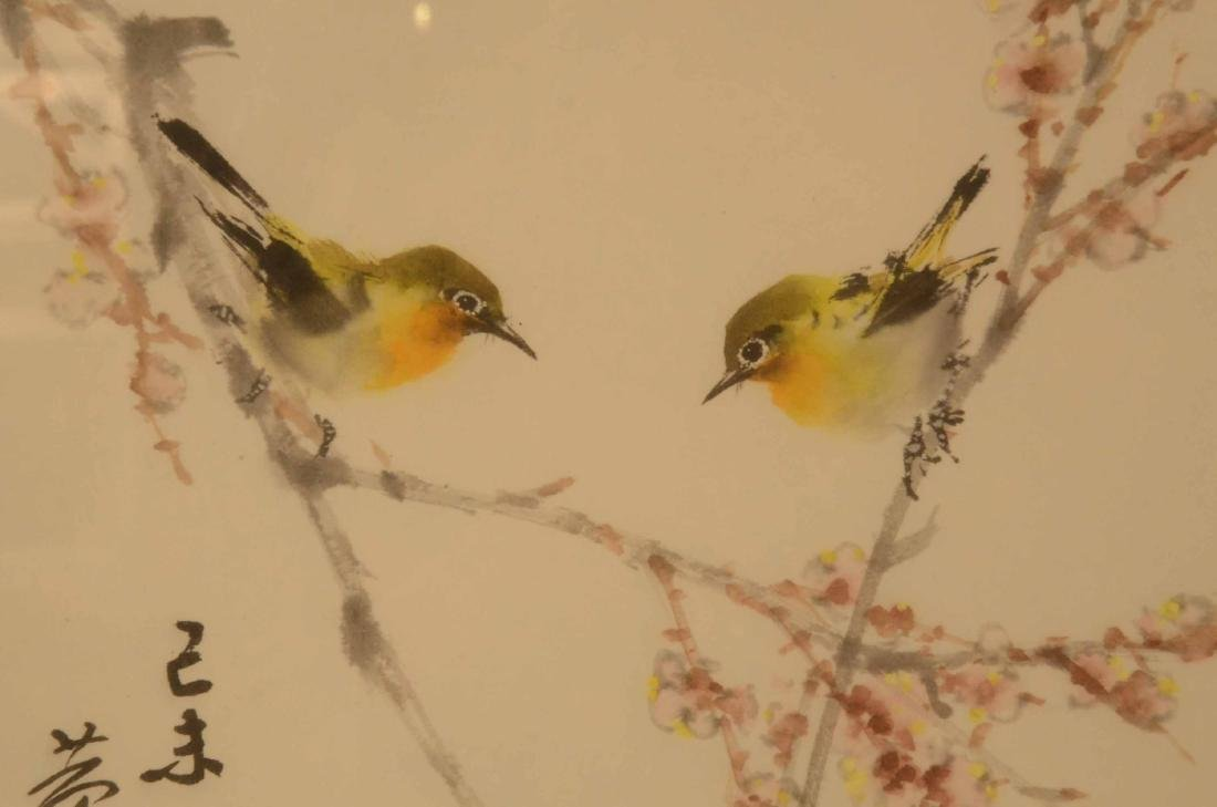 Japanese Print on Paper, Two Songbirds - 5