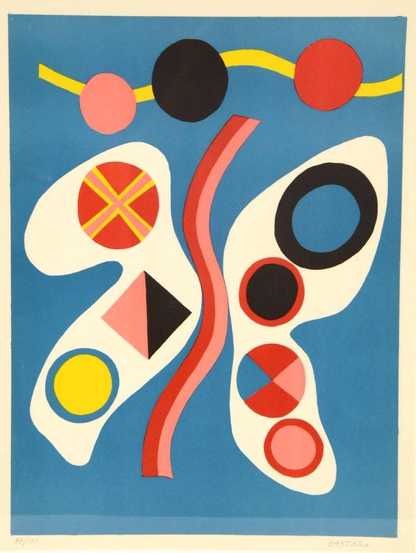 Serigraph, Abstract Jorge Perez Castano - 2